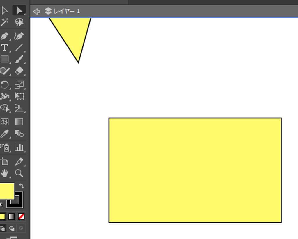 【Adobe Illustrator CC】四角形(□)の辺の一部を丸く広げる方法