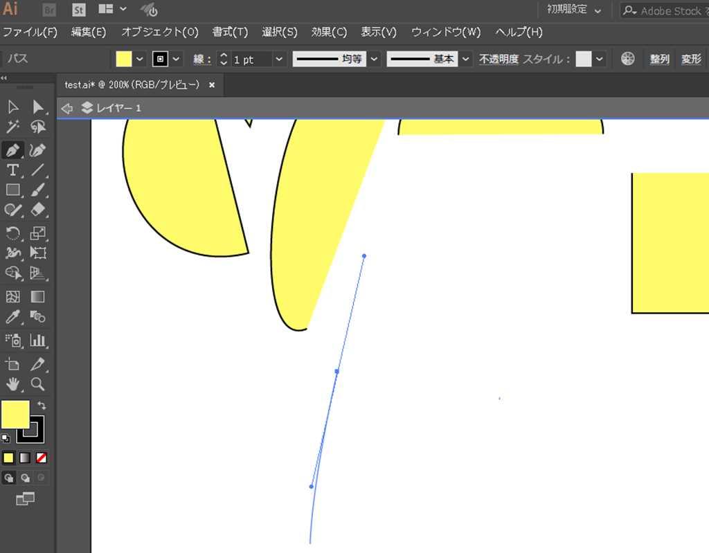 【Adobe Illustrator CC】ペンツールのラバーバンドのプレビューとは?