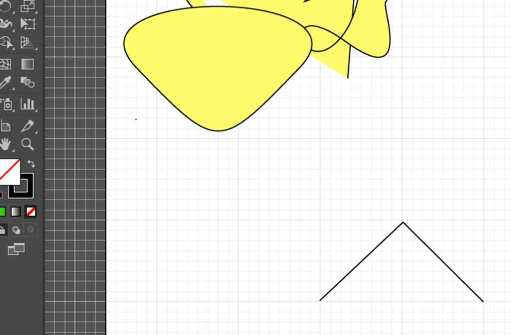【Adobe Illustrator CC】アンカーポイントツール|直線を曲線に変える方法