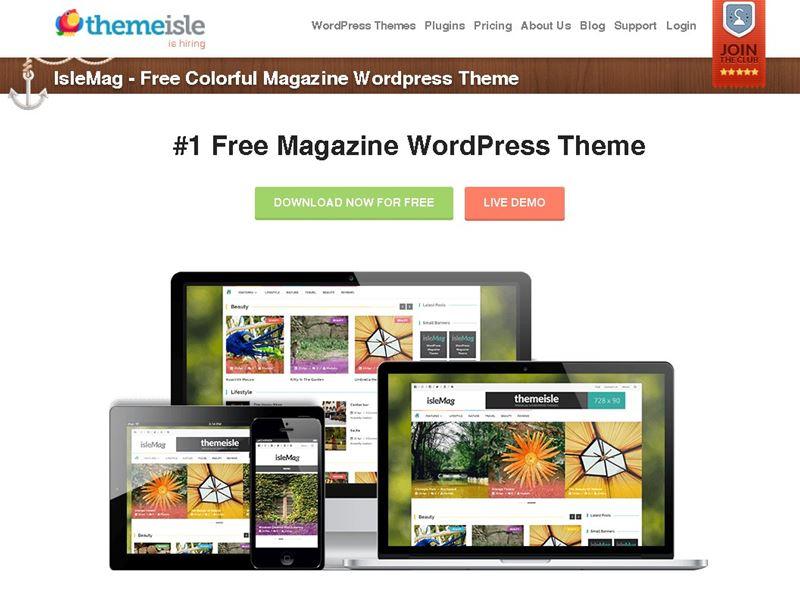 オススメのWordPress無料テーマ「IsleMag」|WordPress