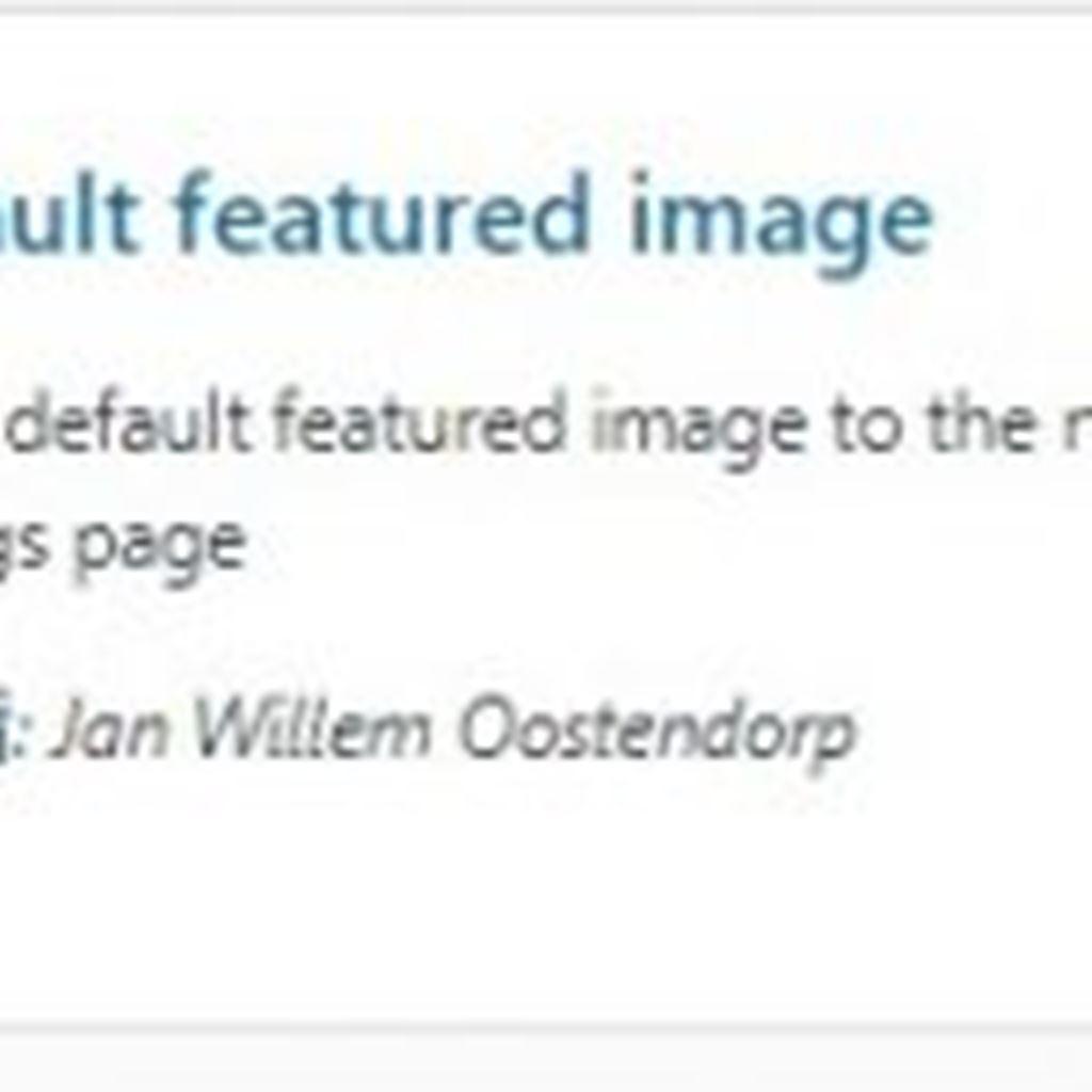 アイキャッチのデフォルト画像を設定するWordPressプラグイン!|Default featured image