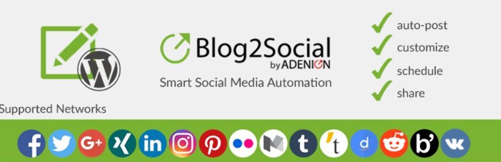 WordPressの投稿を色々なSNSサイトに一斉投稿できる便利プラグイン!|Blog2Social: Social Media Auto Post & Scheduler