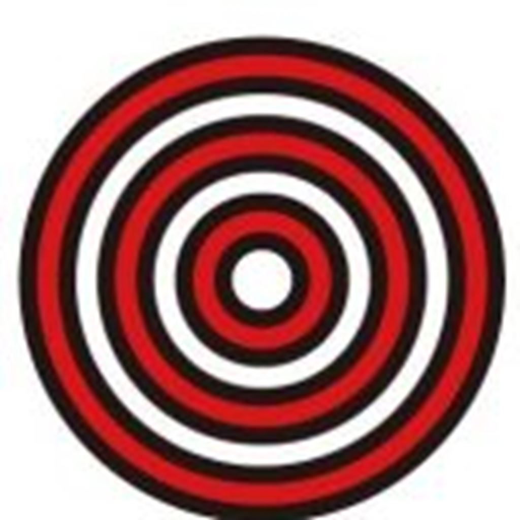 【illustratorCC】同心円グリッドツールとパスファインダーで「ダーツの的っぽい図形」を作成する方法