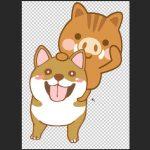 【PhotoshopCC(フォトショップ)入門】犬と亥の合体イラストを作成!/選択範囲/パス