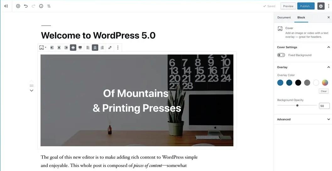 【WordPress】新エディタ「Gutenberg(グーテンベルク)」を試す!