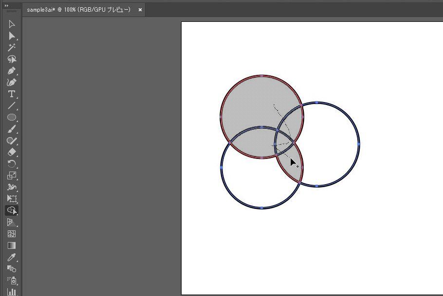 【illustrator】図形(オブジェクト)を細かく合体させる時に便利なツール|シェイプ形成ツール