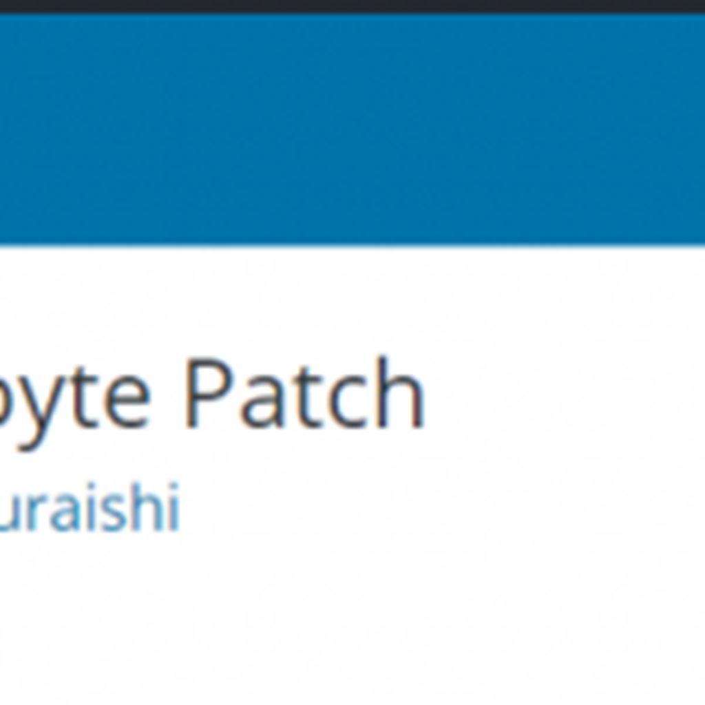 WP Multibyte Patchとは?|マルチバイト機能の拡張|WordPressプラグイン